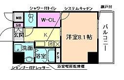 エストーネ野田阪神[5階]の間取り