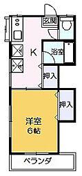 第2豊島荘[201号室]の間取り