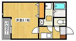 クリスタルI香椎駅東[103号室]の間取り
