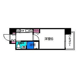 阪堺電気軌道上町線 東天下茶屋駅 徒歩3分の賃貸マンション 10階1Kの間取り