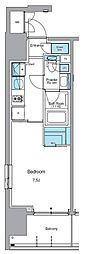 JR山手線 上野駅 徒歩13分の賃貸マンション 13階1Kの間取り