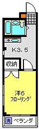 妙蓮寺ミューズ[306号室]の間取り