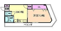 コーポ阪神[2階]の間取り