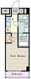JR南武線 立川駅 徒歩9分の賃貸マンション 2階1Kの間取り