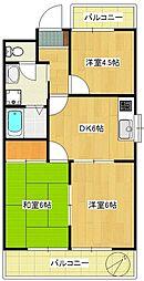 第138新井ビル[403号室]の間取り