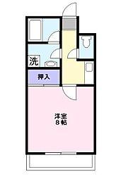 藤コーポE[3階]の間取り