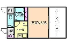 ドムールコスモス清風荘[5階]の間取り
