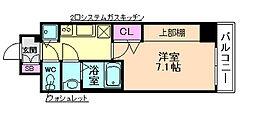 W−STYLE大阪駅前[8階]の間取り