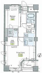レジディアタワー上池袋 タワー棟 2階1SLDKの間取り