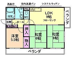 ラ・フォーレ綾羽[3階]の間取り
