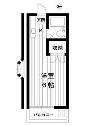 東京都練馬区豊玉上2丁目の賃貸アパートの間取り