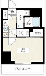 JR山手線 大塚駅 徒歩6分の賃貸マンション 12階1Kの間取り