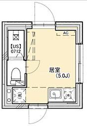 PROTO武蔵小山III 3階ワンルームの間取り