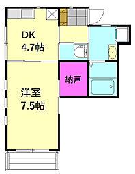 埼玉新都市交通 原市駅 徒歩3分の賃貸アパート 1階1DKの間取り
