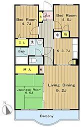 フォレストマンション[105号室]の間取り