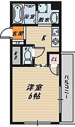 大阪府大阪市城東区鴫野東3丁目の賃貸マンションの間取り
