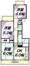 東京都八王子市日吉町の賃貸マンションの間取り