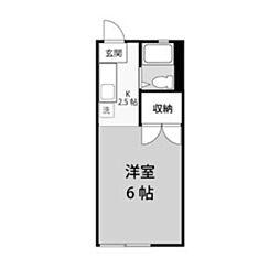 神奈川県川崎市多摩区宿河原2丁目の賃貸アパートの間取り