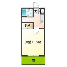 愛知県豊橋市柱一番町の賃貸アパートの間取り