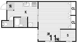 カルモハイツ[1階]の間取り