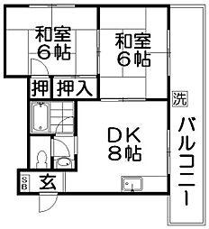 第一乾マンション[4階]の間取り