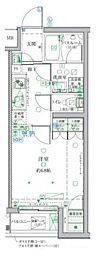 小田急小田原線 祖師ヶ谷大蔵駅 徒歩3分の賃貸マンション 4階1Kの間取り