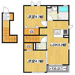東京都葛飾区奥戸3丁目の賃貸アパートの間取り
