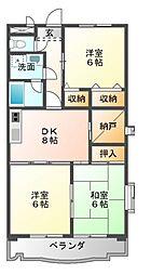 杉浦マンション[2階]の間取り
