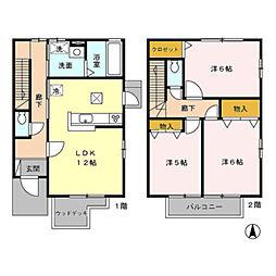 [テラスハウス] 神奈川県川崎市麻生区はるひ野2丁目 の賃貸【/】の間取り