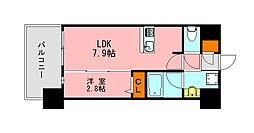 仮称)LANDIC K2620 12階1LDKの間取り