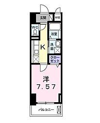 クラシェス新長田[4階]の間取り