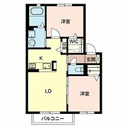 シャーメゾン鈴の宮[2階]の間取り