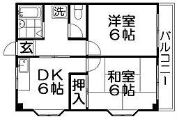 デンタルハイツ[2階]の間取り