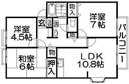 サンビレッジ東神田[2階]の間取り