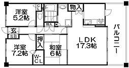 ステイツ枚方香里ヶ丘7丁目[3階]の間取り