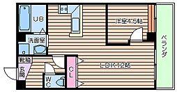 リバーライズ空堀[2階]の間取り