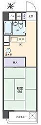三田高島平第三コーポ[6階]の間取り