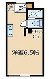 コーポ久松[1階]の間取り