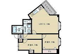 メゾン豊新[8階]の間取り