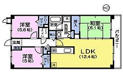 カサベルデ石神井台II[1階]の間取り