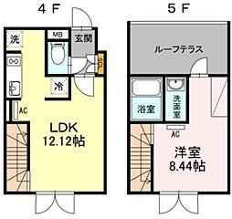 LAPiS目黒本町 4階1LDKの間取り