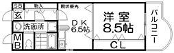 宮之阪ウェーブ[4階]の間取り