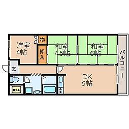 滋賀県高島市城山台1丁目の賃貸マンションの間取り