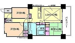大阪福島タワー[24階]の間取り