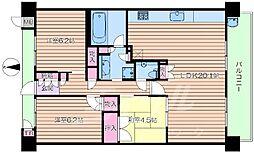 大阪府豊中市新千里東町3丁目の賃貸マンションの間取り