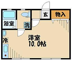 DOME-TAMA MM 2階ワンルームの間取り