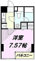 東京都八王子市横山町の賃貸マンションの間取り