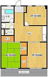 東野興産第1ビル[303号室]の間取り