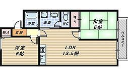 セジュール新金岡[2階]の間取り