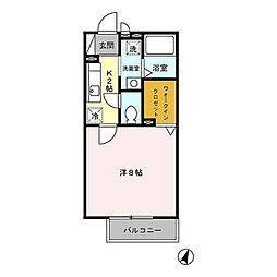 東京都青梅市師岡町3丁目の賃貸アパートの間取り